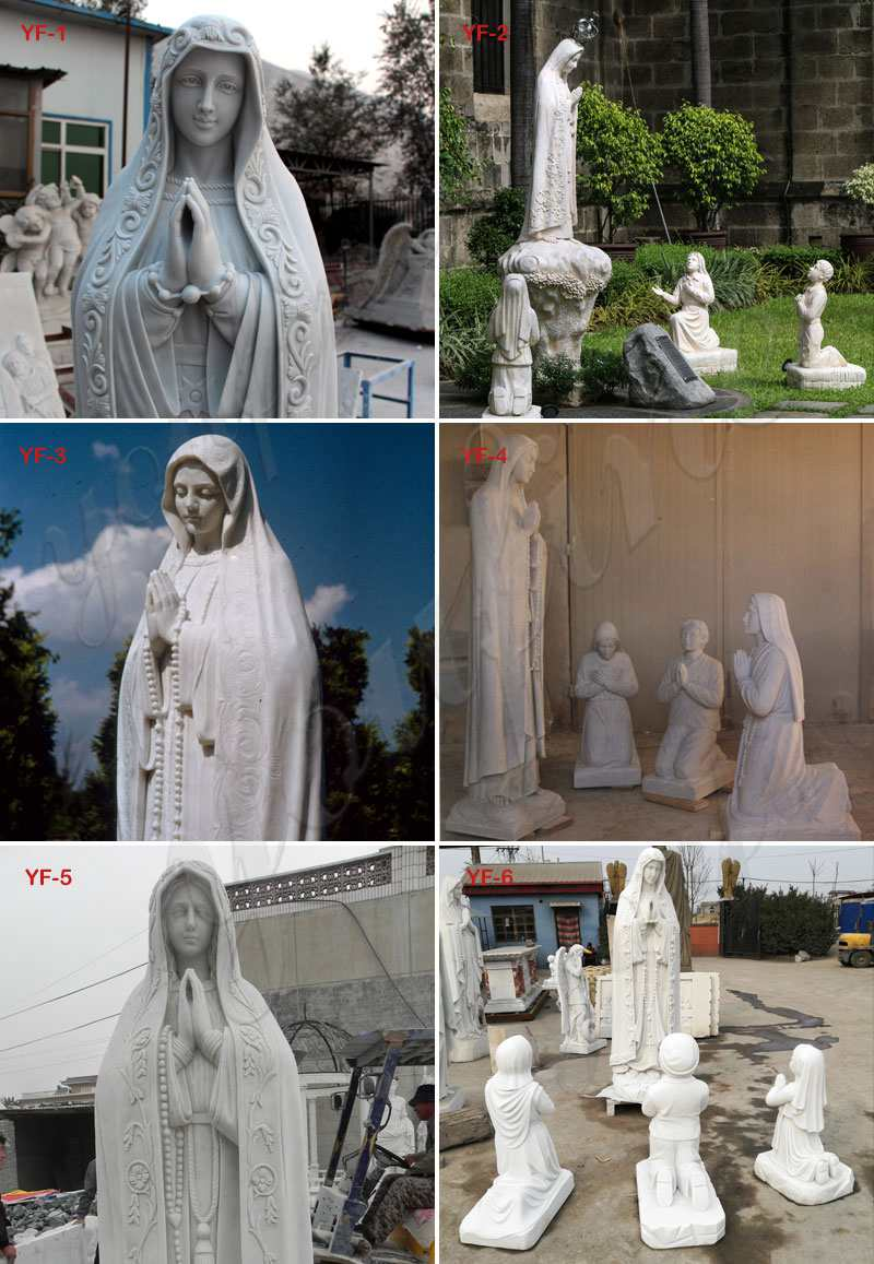 our lady of fatima outdoor statue
