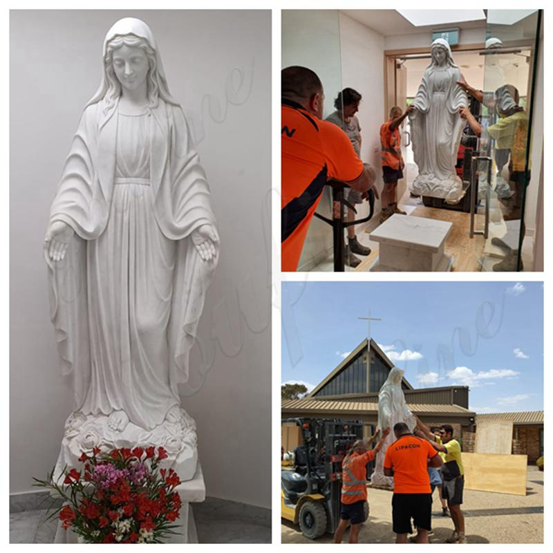 Feedback from Our Customer about White Marble Mary Statue