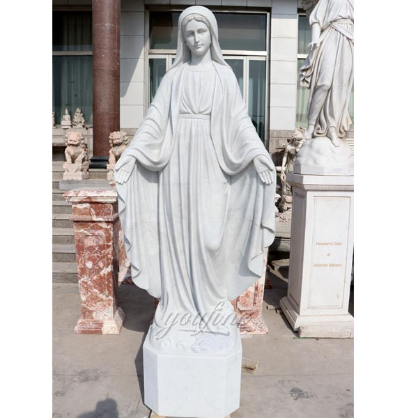 Hand Carved Our Lady of Mary Marble Statue factory Supply CHS-700