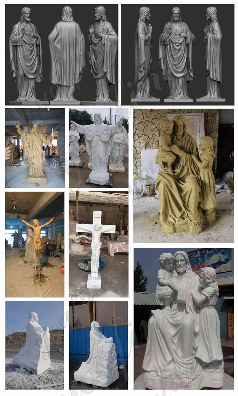 Marble Sacred Heart Jesus Statue