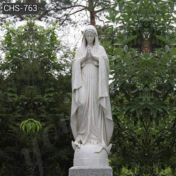 Catholic White Marble Mary Statue for Church Donation Suppliers CHS-763