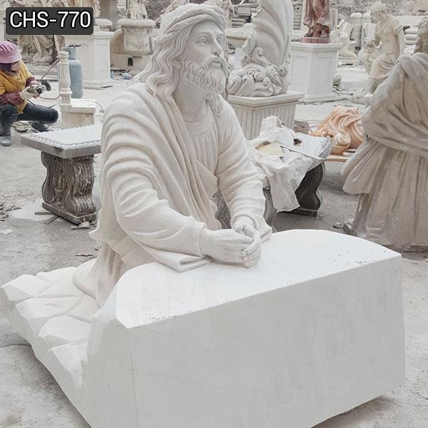 Garden Decoration Jesus Praying Marble Statue Church Suppliers
