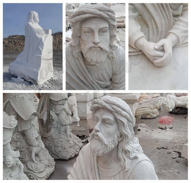 Garden Decoration Jesus Praying Marble Statue details