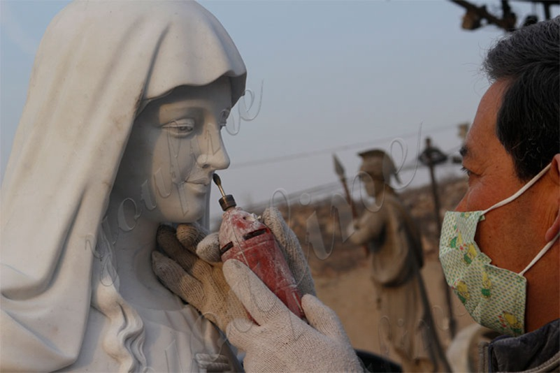 process of statues of mary