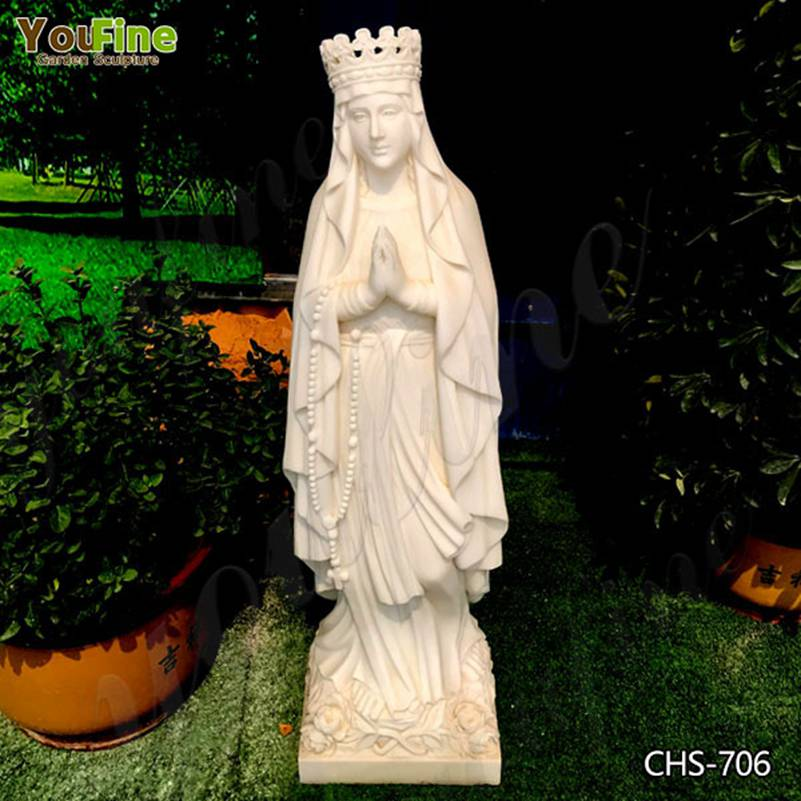 Life Size Praying Virgin Mary Marble Statue for Sale CHS-706
