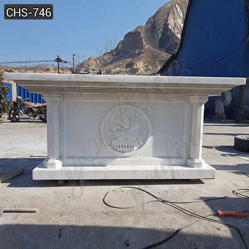 High Quality Catholic White Marble Church Altar for Sale
