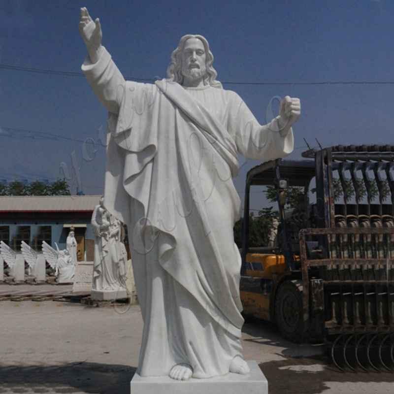 Jaint catholic white marble