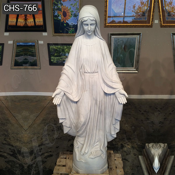 Full Size Marble Mary Statue Our Lady of Grace Sculpture for Sale