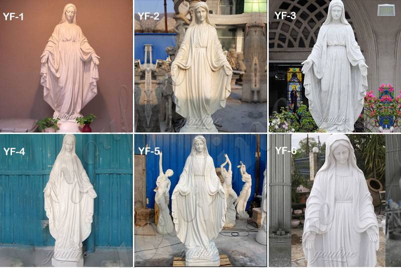 Full Size Marble Our Lady of Grace Sculpture for Sale