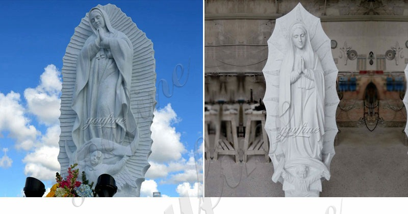 Outside Life Size Grace Catholic Sculpture Our Lady of Guadalupe Statues for Sale