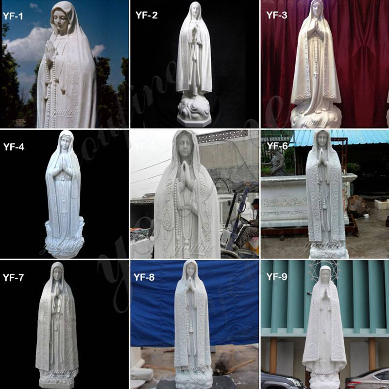 Catholic Outdoor Our Lady of Fatima Marble Statue