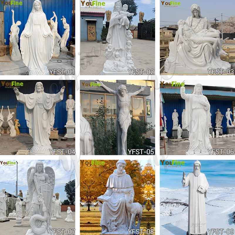 Catholic religious marble statue for sale