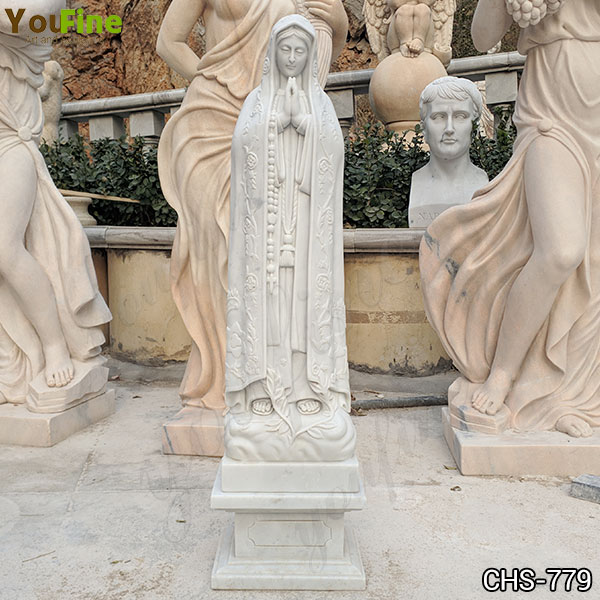 Classic Catholic Outdoor Our Lady of Fatima Marble Statue for Sale