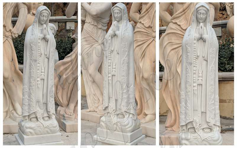 Classic Catholic Outdoor Our Lady of Fatima Marble Statue