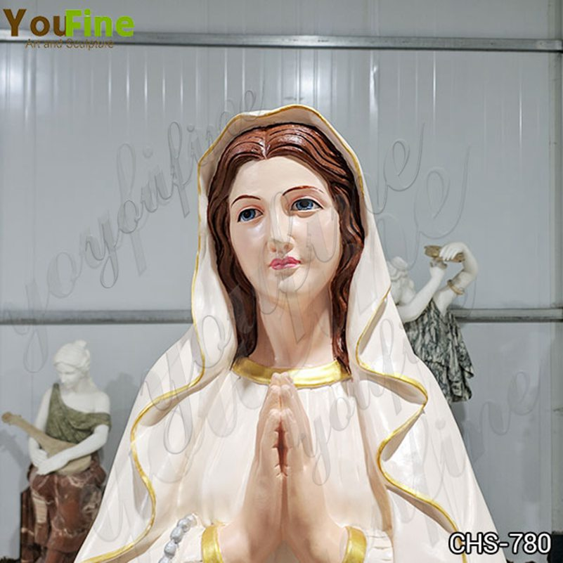 Marble Our Lady of Lourdes Statue for Church Suppliers