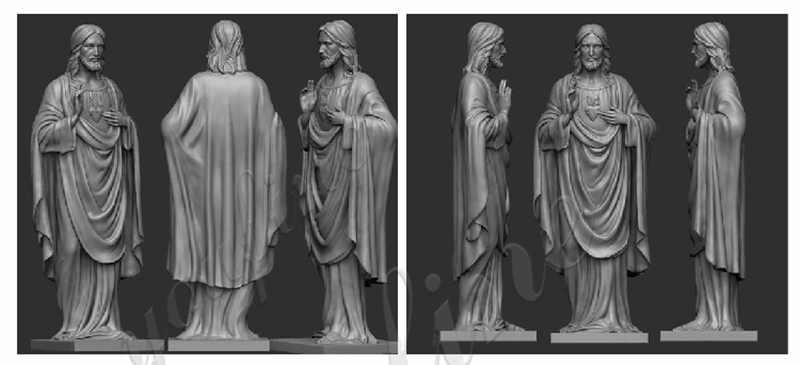 marble jesus life size sculpture