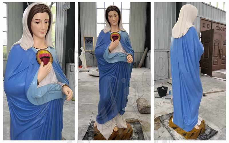 Catholic Marble Mary Statues of Our Lady Grace for Garden Design details