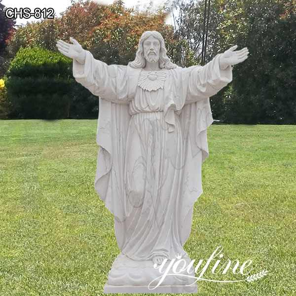 Life Size White Marble Jesus Garden Statue Catholic for Sale CHS-812