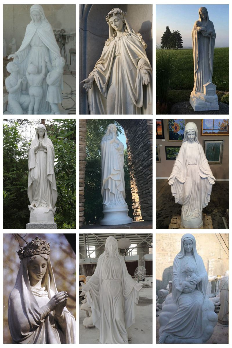 d mother statues for outside