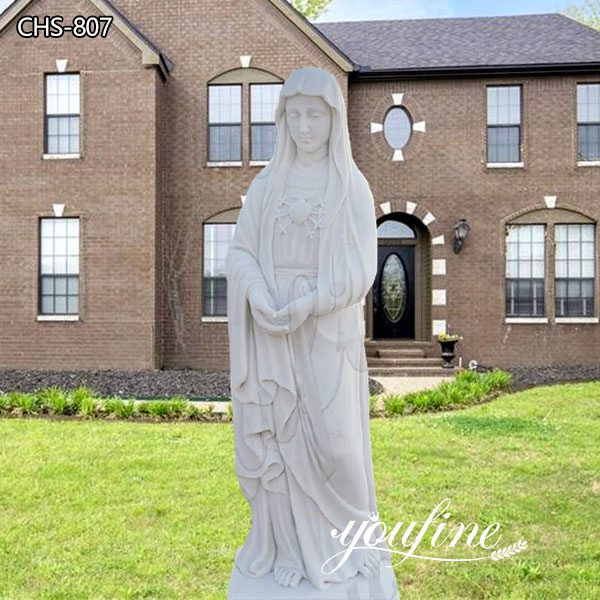 Best Life Size Marble Blessed Mother Statue for Outside Suppliers