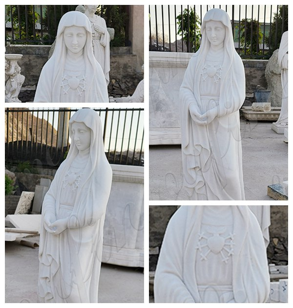 Best Life Size Marble Blessed Mother Statue for Outside