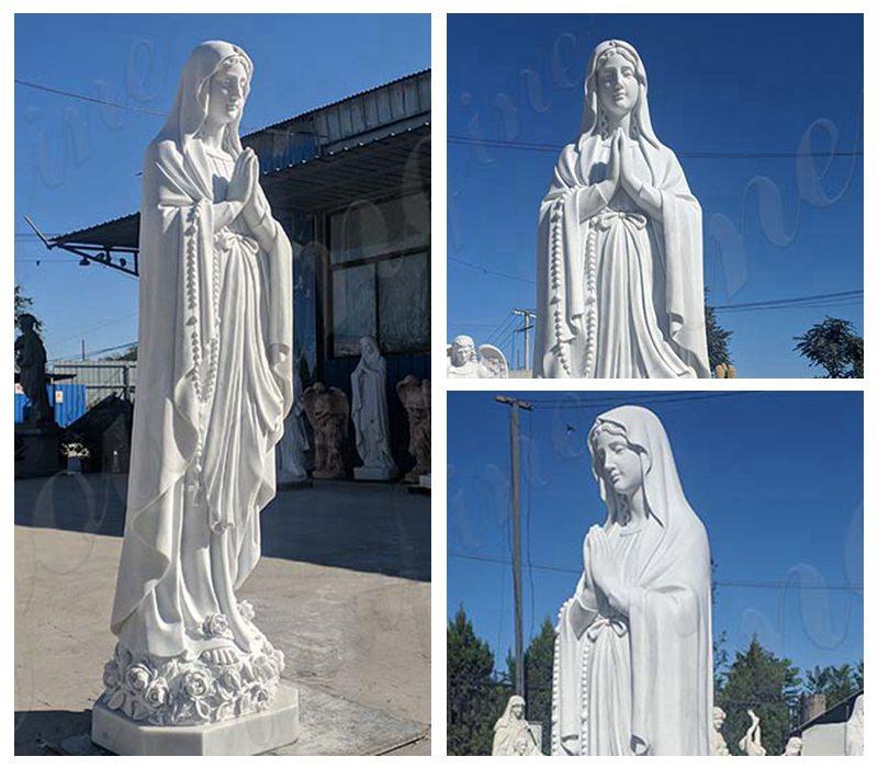 Marble Lourdes Garden Statue