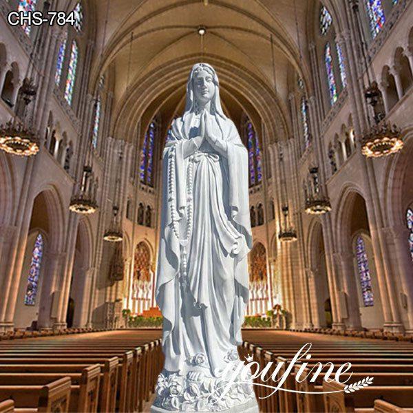 Outdoor Religious Marble Lourdes Garden Statue Manufacturer