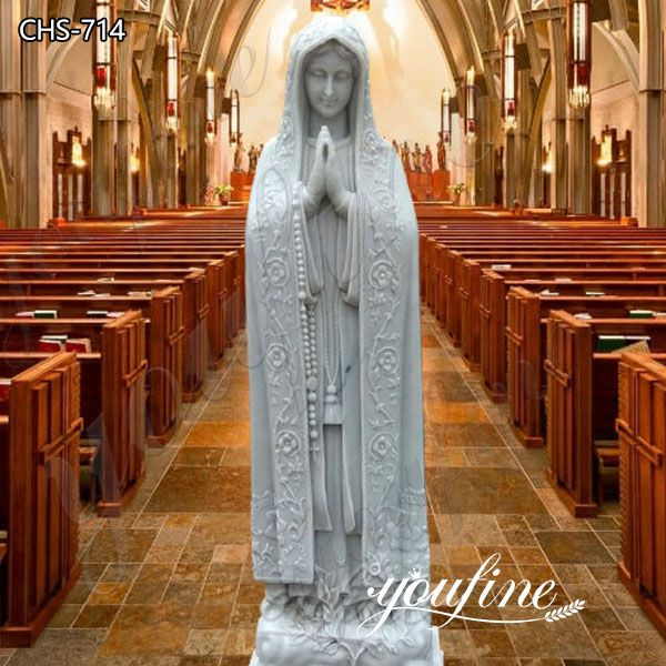 Religious Outdoor Our Lady of Fatima Marble Statue for Sale