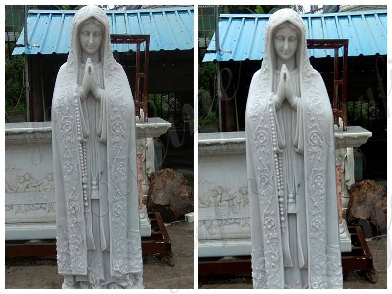 Religious Outdoor Our Lady of Fatima Marble Statue