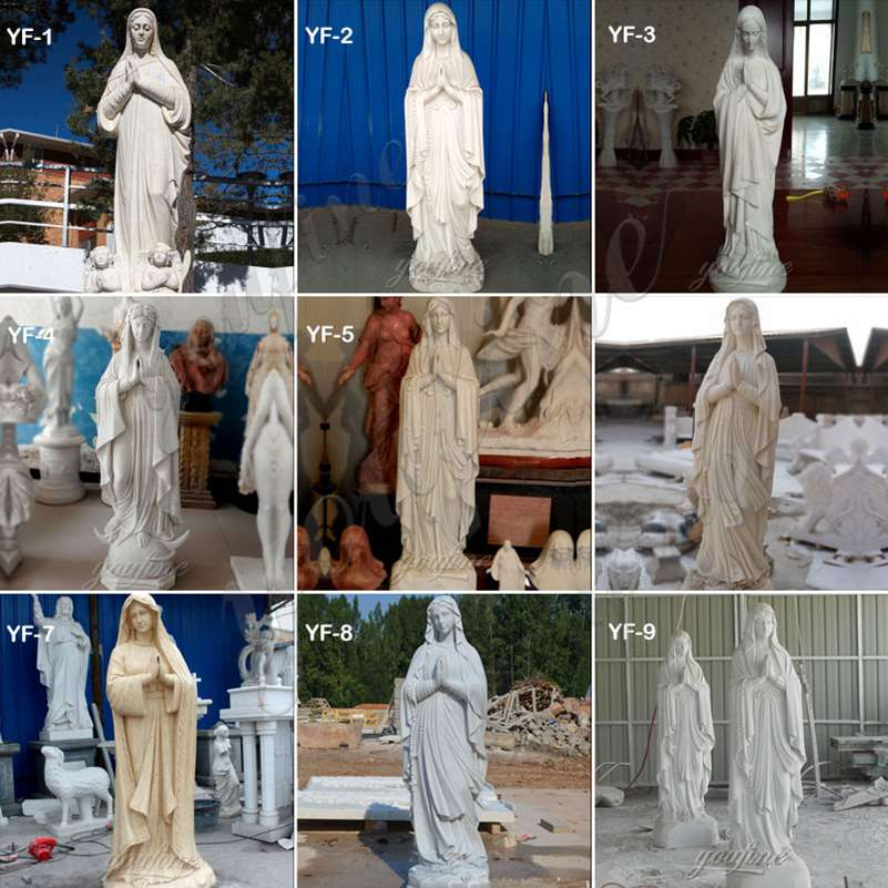 outdoor religious statues mary