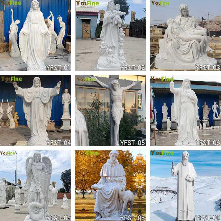 religious garden marble statues