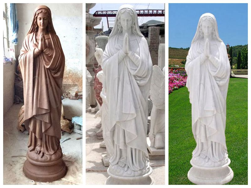Marble Mary Blessed Mother Statues for Outside for Sale