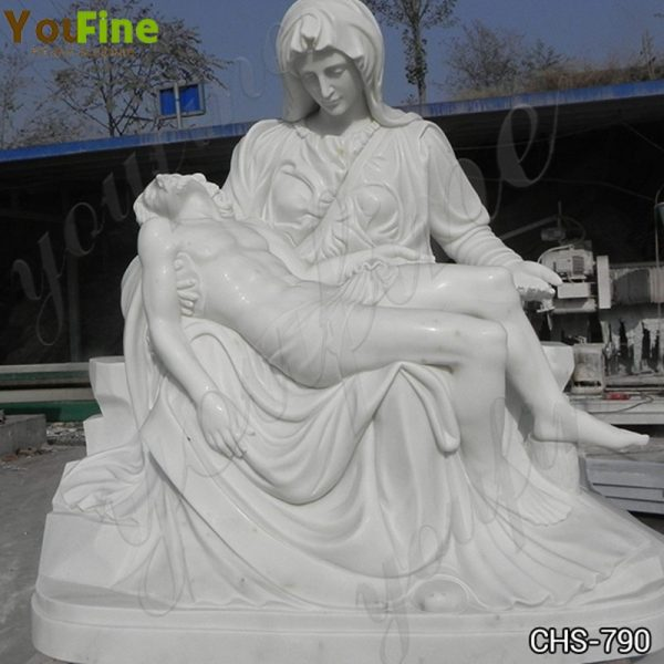 Marble Pieta Mary and Jesus Statue Outdoor Catholic Statues for Sale