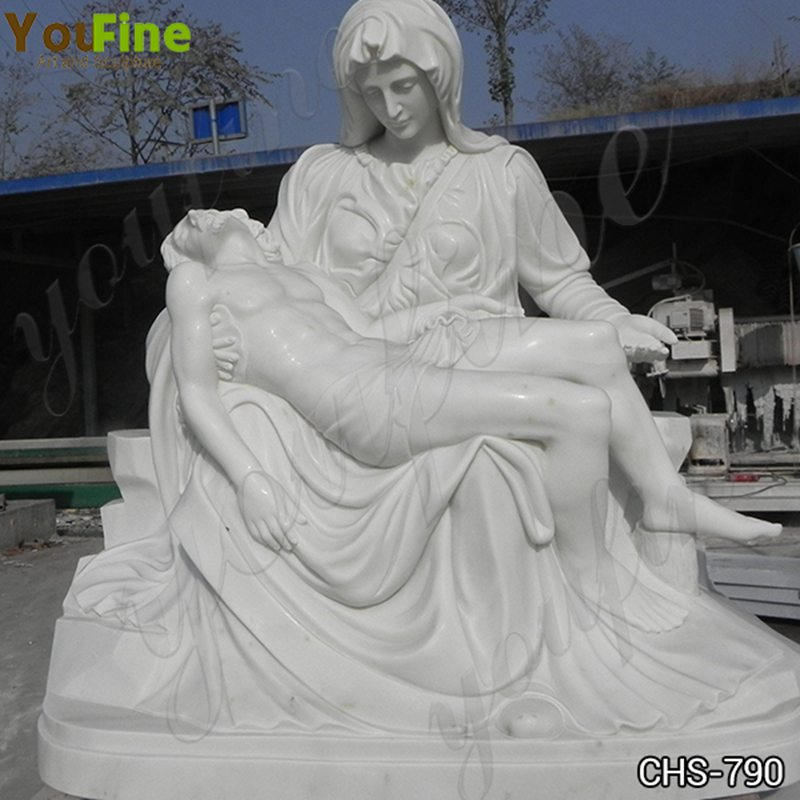 Marble Pieta Mary and Jesus Statue Outdoor Catholic Statues for Sale CHS-790