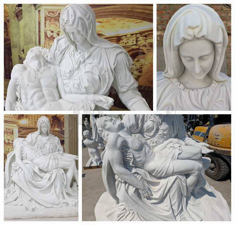 Marble Pieta Mary and Jesus Statue Outdoor Catholic Statues