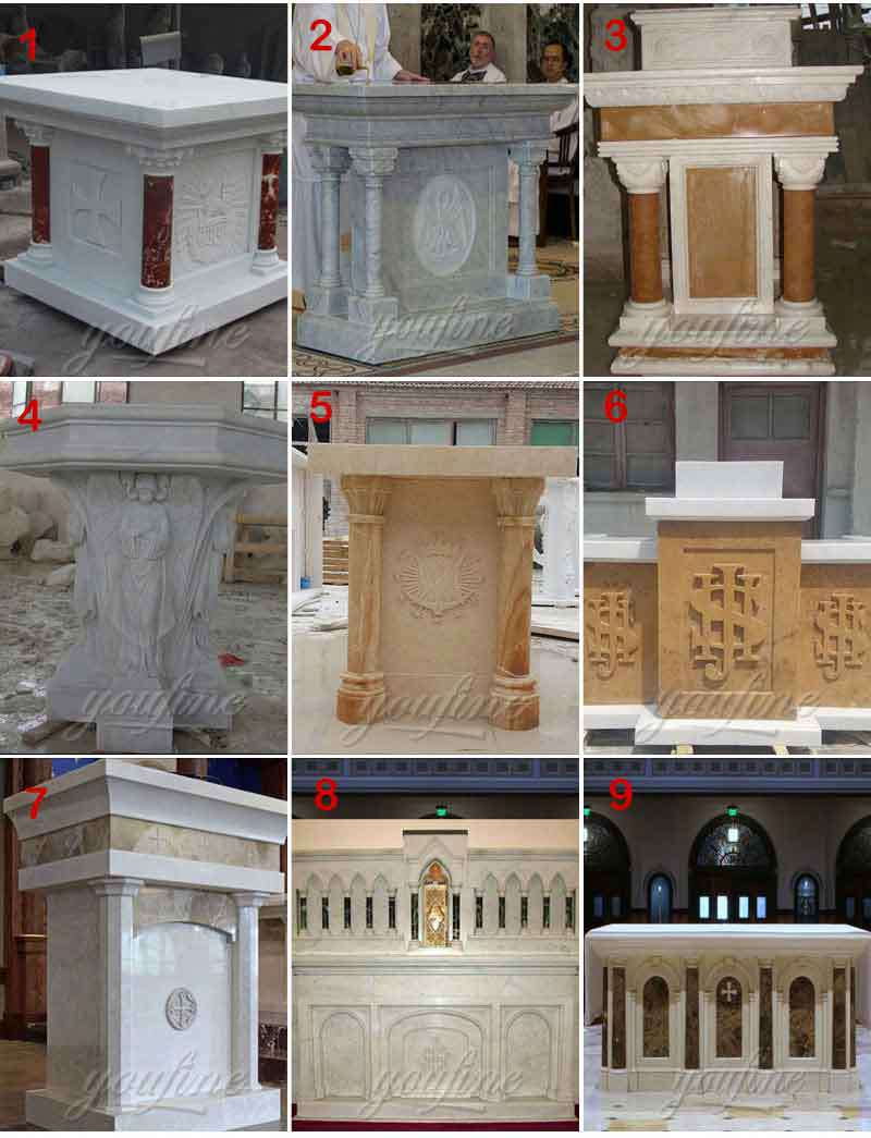 Marble Altar Design for Church for Sale