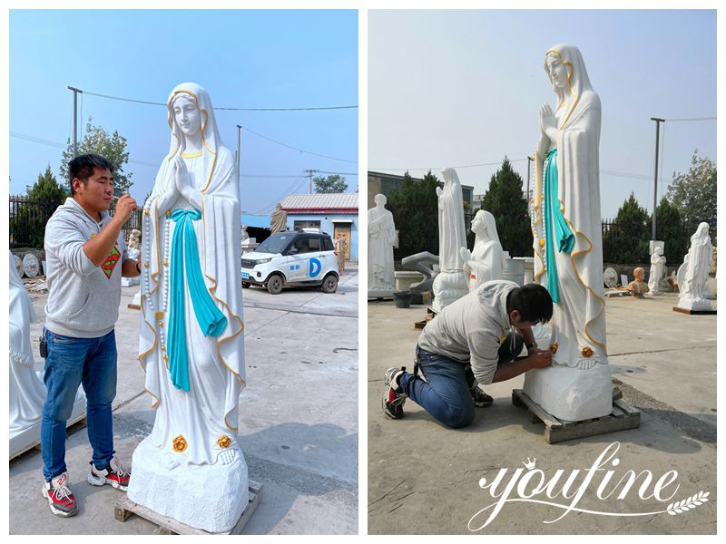 Catholic Church Marble Our Lady of Lourdes Statue for Sale