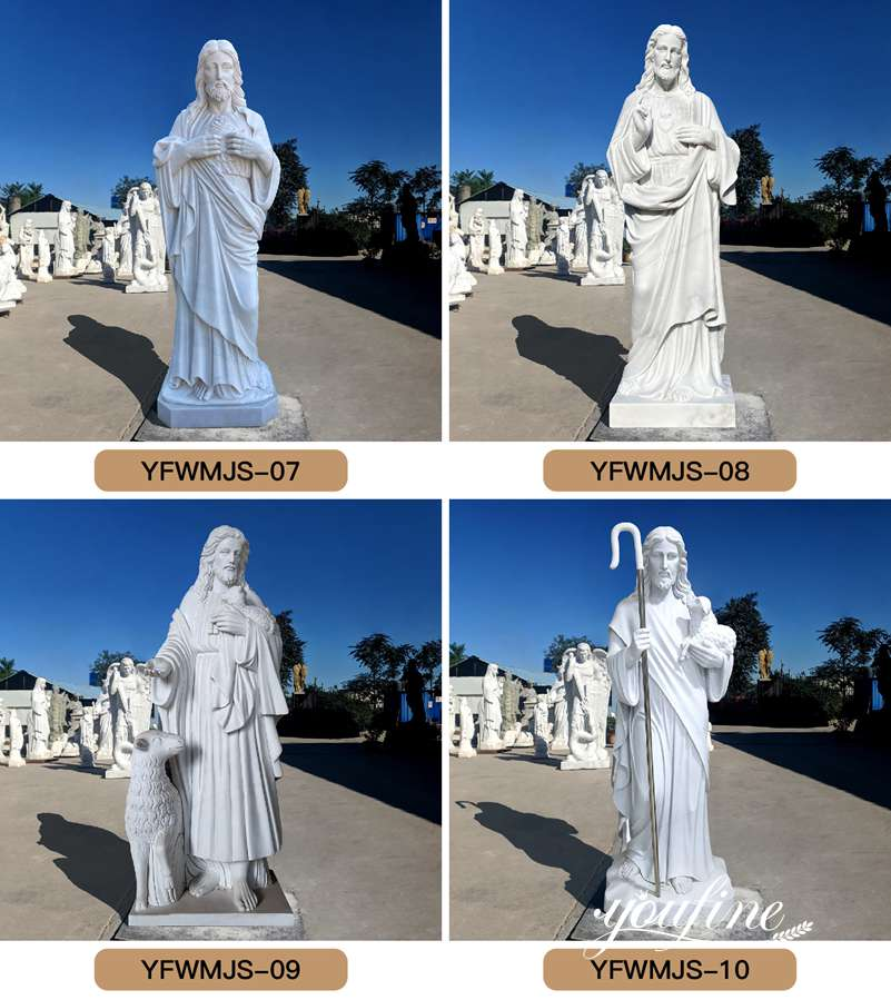 Catholic Church Marble Life Size Jesus Statue