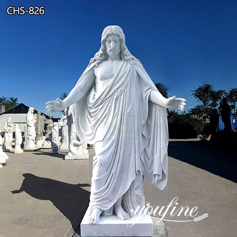 Hand Carved Life Size Jesus Marble Statue Church Decor for Sale