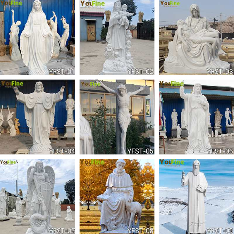 mother mary and jesus statue